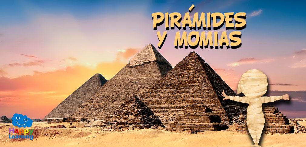 Las pirámides y momias del antiguo Egipto.