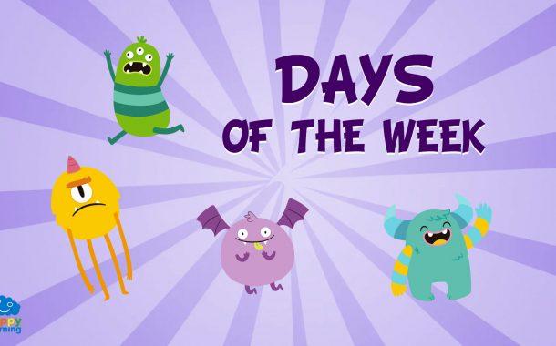 Vocabulario de los días de la semana en Inglés