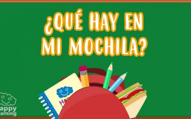 What's in my School Bag? Spanish Vocabulary for Children | Educational Videos for Kids