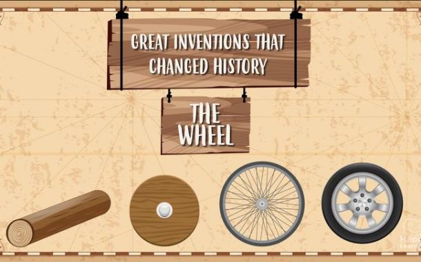 THE WHEEL. Great inventions which changed history.