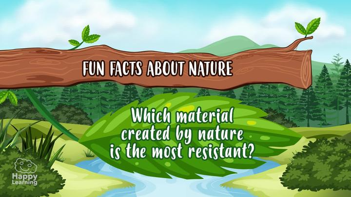 Which material created by nature is the most resistant?  A spider's web!