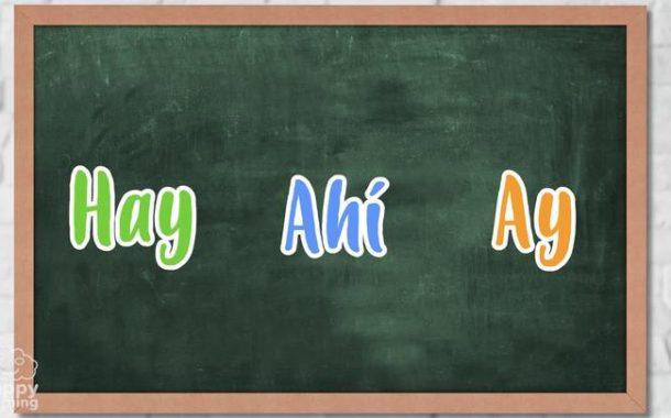 HAY, AHI o AY. ¿Cuándo se utilizan y cuál es la diferencia?