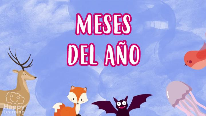 Months of The Year in Spanish for Children